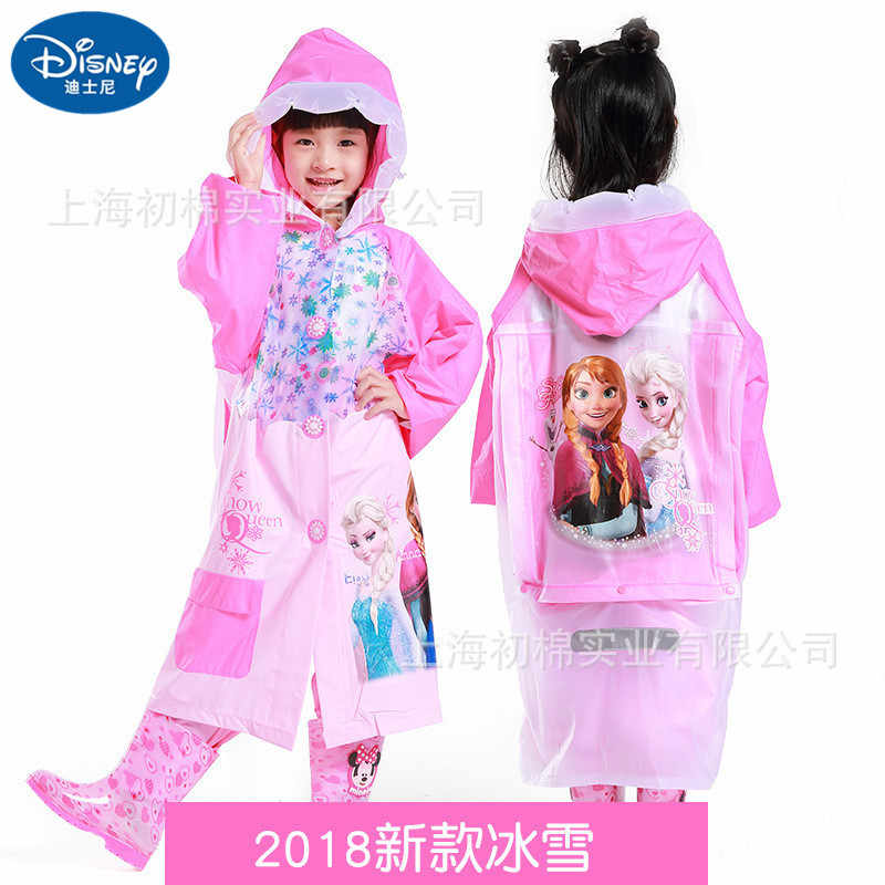 Colourful Rainproof Poncho for Children with Mickey Print EVA Material Buttons Equipped with Hood PERLETTI Disney Mickey Mouse Waterproof Long Cape for Baby Boys