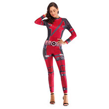 Wade Winston Wilson Deadpool Cosplay Mulheres Usam Trajes Bodysuit macacões Meias Collants de Festa de Natal do Dia Das Bruxas(China)