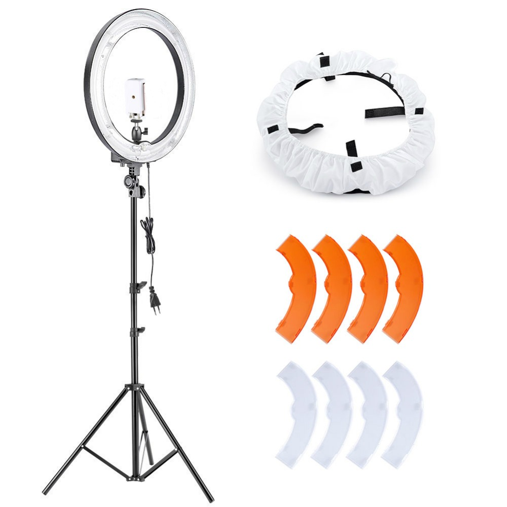 Neewer Camera Photo Video Lighting Kit:18 Inches 75W 5500K Fluorescent Ring Light, Light Stand,Diffuser,Mini Ball Head