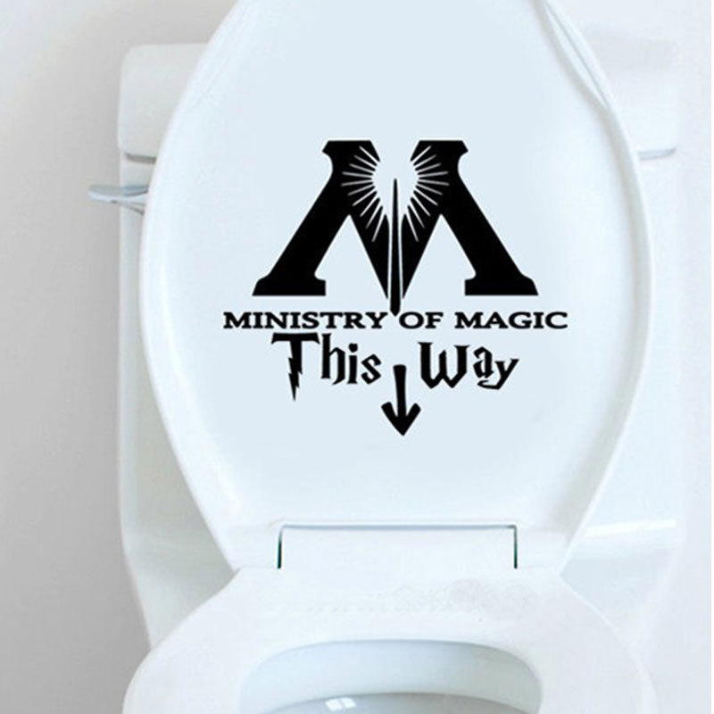 Wall-StickersToilet Ministry of Magic Toilet Bathroom Decor s
