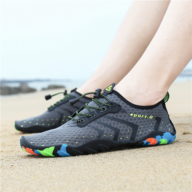 Summer Water Shoes Men Breathable Aqua Shoes Beach Sandals Sport Slippers Upstream Shoes Women Diving Socks Tenis Masculino 5