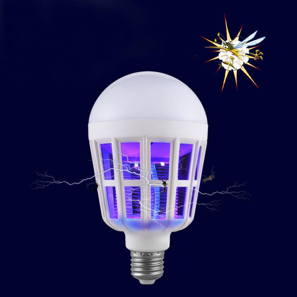 Indoor 2 in 1 Mosquito Killer E27 LED Bulb 15W 220V Lamp Insect Anti-Mosquito Repeller For Home Night Light Killing Fly Bug