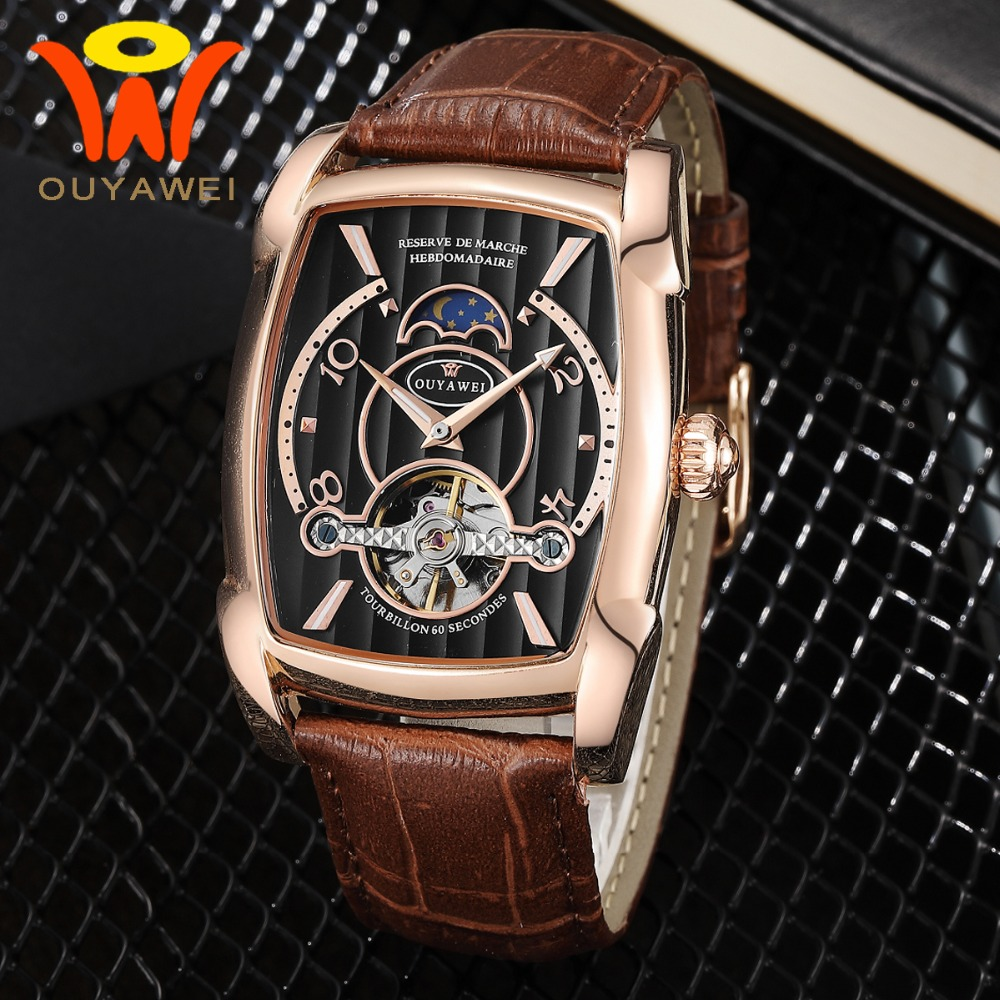 Mens Tourbillon Moon Phase Automatic Watch Men Mechanical Watches 2018 Top Brand Luxury Rosegold Moonphase Waterproof WristwatchMens Tourbillon Moon Phase Automatic Watch Men Mechanical Watches 2018 Top Brand Luxury Rosegold Moonphase Waterproof Wristwatch