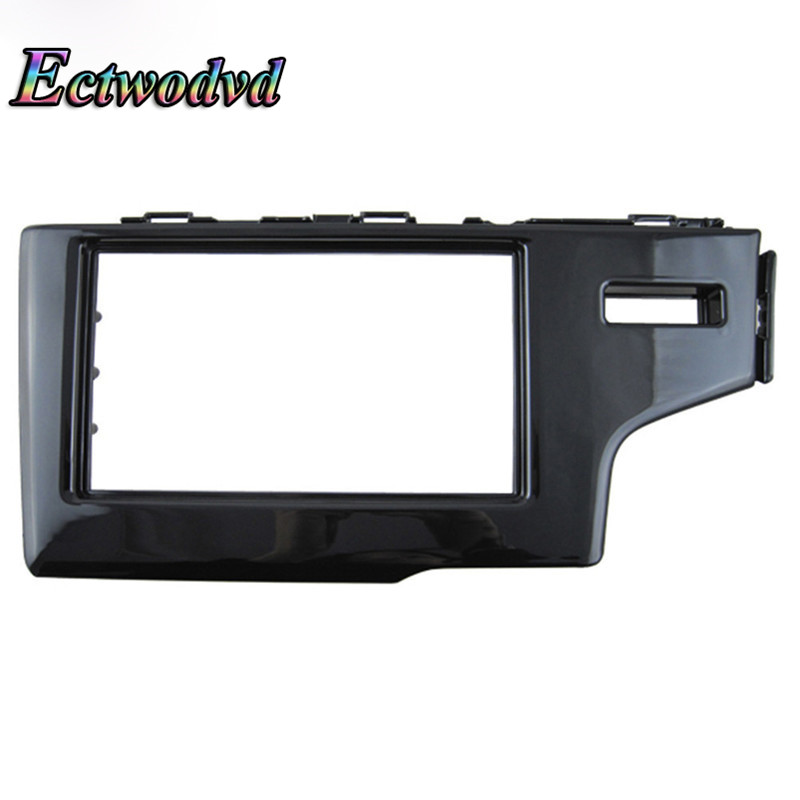 Ectwodvd 173*98/178*100/178*102MM Car Radio Fascia for Honda Fit Jazz 2013 (RHD) 2DIN Stereo Frame Panel Dash Mount Kit silver car 2din stereo panel fascia radio refitting dash trim kit for ford focus 98 04 rhd fiesta 95 01 rhd ca5038
