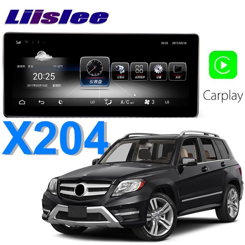 цена Liislee Car Multimedia Player NAVI For Mercedes Benz MB GLK Class GLK200 GLK220 X204 2013~2016 Car Radio Stereo GPS Navigation