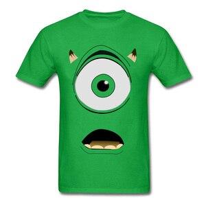 Мужская футболка Mike Wazowski, зеленая футболка с принтом монстра, уличная футболка в стиле хип-хоп, 2019