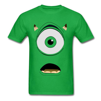 Mike Wazowski T-shirt 2019 Funny Mens Tshirt Men Green Geek Monster Print T Shirt Swag Hip Hop Streetwear Custom Cosplay Tee