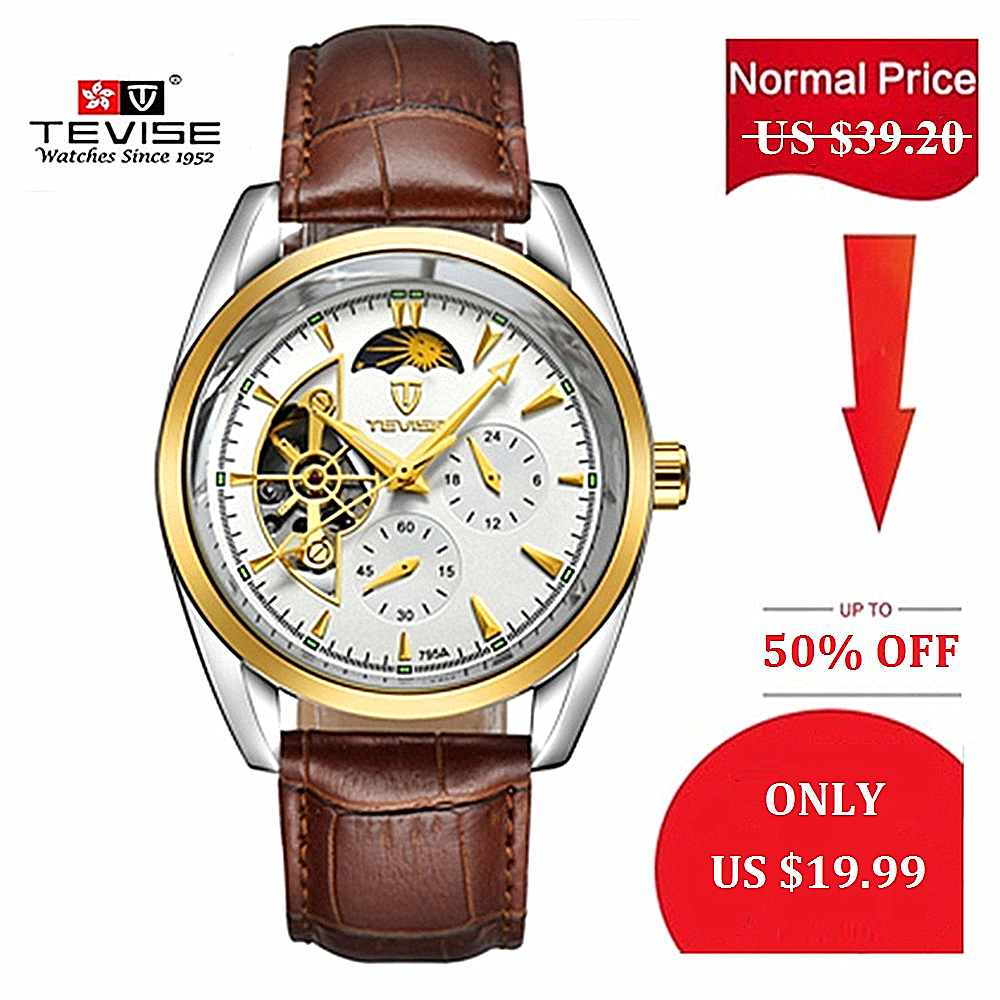 Men Watches Waterproof Automatic Mechanical Watch Luxury Brand TEVISE Leather Strap Watch relogio masculino automatic male clockMen Watches Waterproof Automatic Mechanical Watch Luxury Brand TEVISE Leather Strap Watch relogio masculino automatic male clock