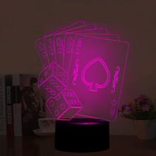 Optical Illusion 3D Lamp Poker and Sieves,Colour Changing 7 Colours