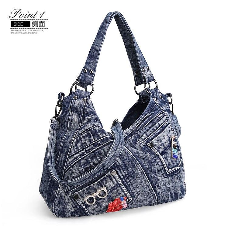 Ipinee bolsa feminina moda coringa denim bolsa