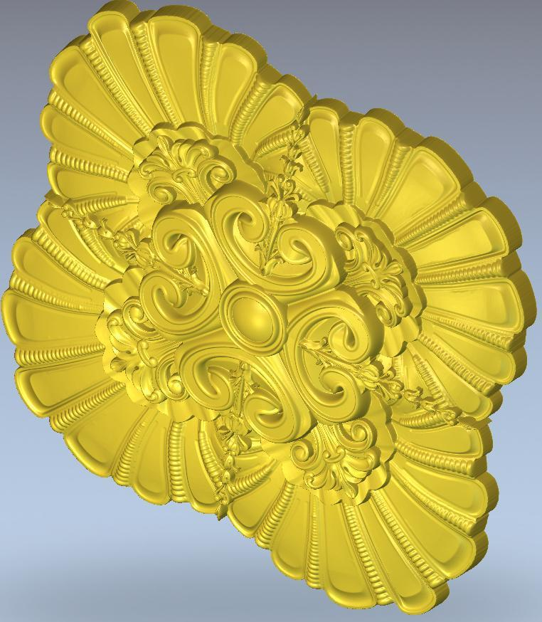 for cnc rosette_57 in STL file  3d  model relief  format 3d model relief format 3d for cnc in stl file rosette 60 3d