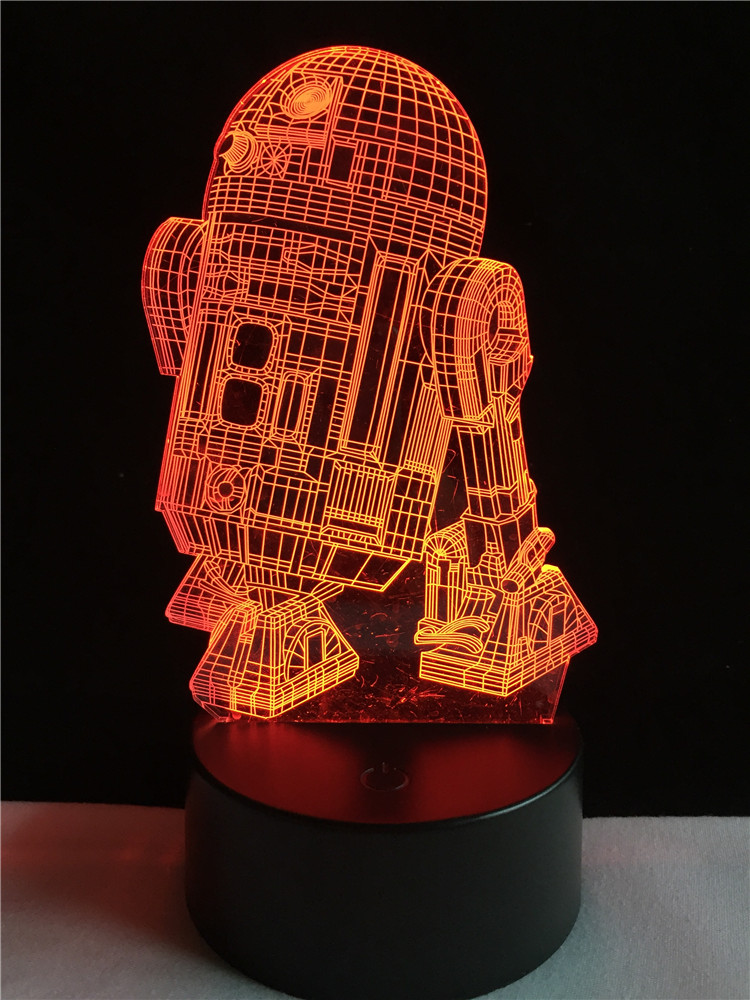free shipping Star Wars Warship 3D Night Light home decoration bulb kid boy gift Touch 7 Colour sleep Light Table lamp Home кашпо gift n home сирень