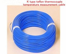 Free Ship 20m/lot K type four fluorine THERMO-COUPLE WIRE K type teflon temperature teflon measurement cable 2cord * 0.3 mm