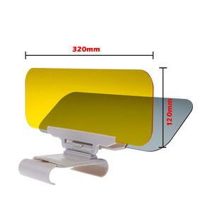 Image 3 - Auto Zonnescherm Dag En Nacht Zonneklep Anti Verblinding Bril Clip On Rijden Voertuig Shield Voor Clear View vizier
