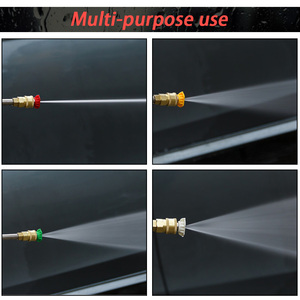 Image 5 - High Quality Metal Jet Water Spray Lance Wand Nozzle for Karcher K Series Car Pressure Washer with 5 tips K2 K3 K4 K5 K6