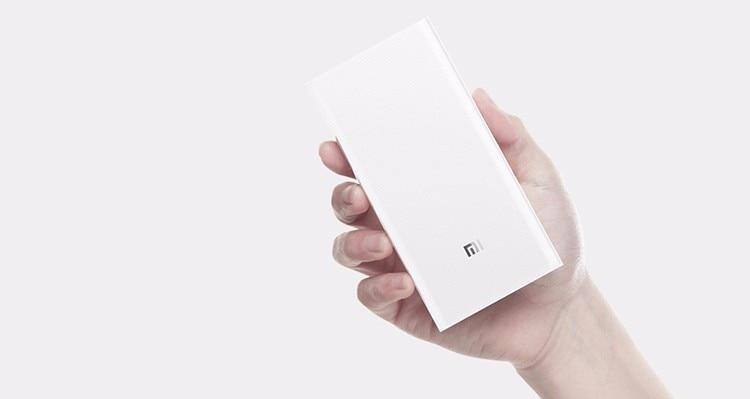 Original Xiaomi Power Bank 20000mAh 2C Portable Charger Dual USB Mi External Battery Bank 20000 for Mobile Phones and Tablets