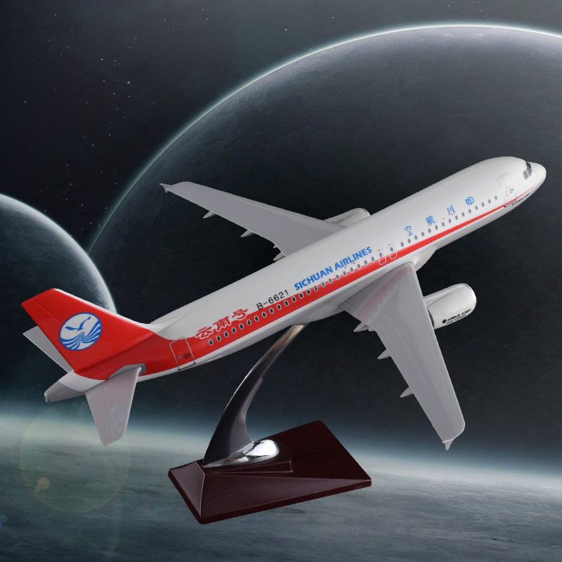 37cm A320 Sichuan Yunnan Airbus Aircraft Model Resin Sichuan Airlines Airplane Model Airbus China Sichuan Aviation Collection phoenix 10948 china southern airlines b 2134 1 400 md 82 commercial jetliners plane model hobby