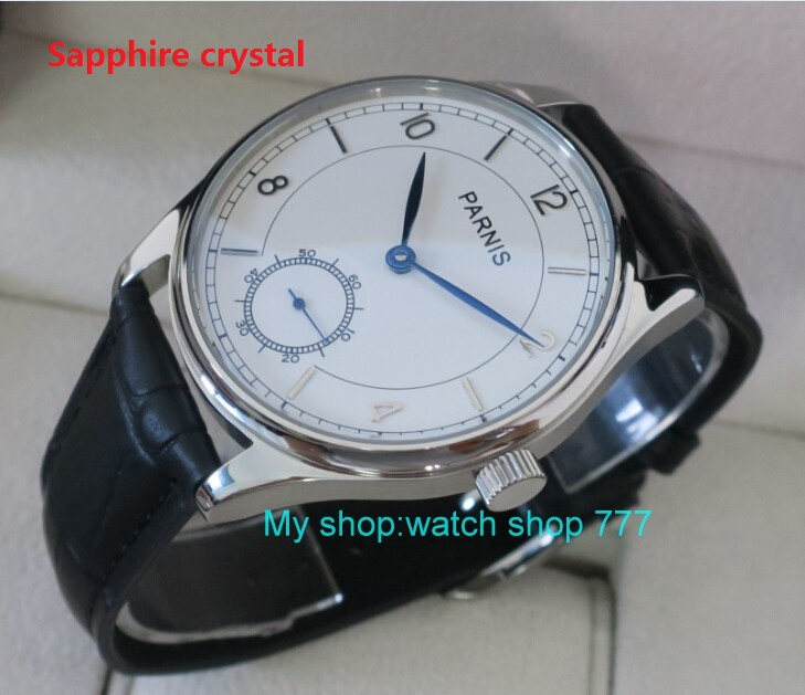 Sapphire crystal 44 mm PARNIS White dial Asian 6498/3621 Mechanical Hand Wind men watches Mechanical watches wholesale rnm08 limited edition watch 50mm big dial parnis men s watch asian 6498 mechanical hand wind pvd black watchcase 84aa