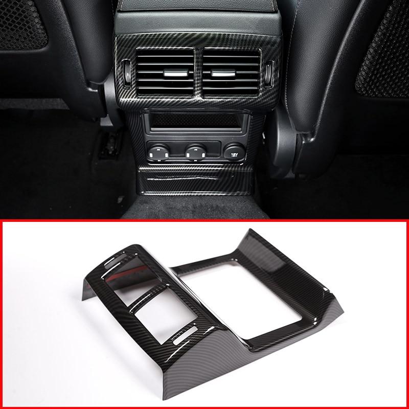 Carbon Fiber For Jaguar F PACE X761 ABS Car Rear Air Conditioning Vent Frame Trim Accessories