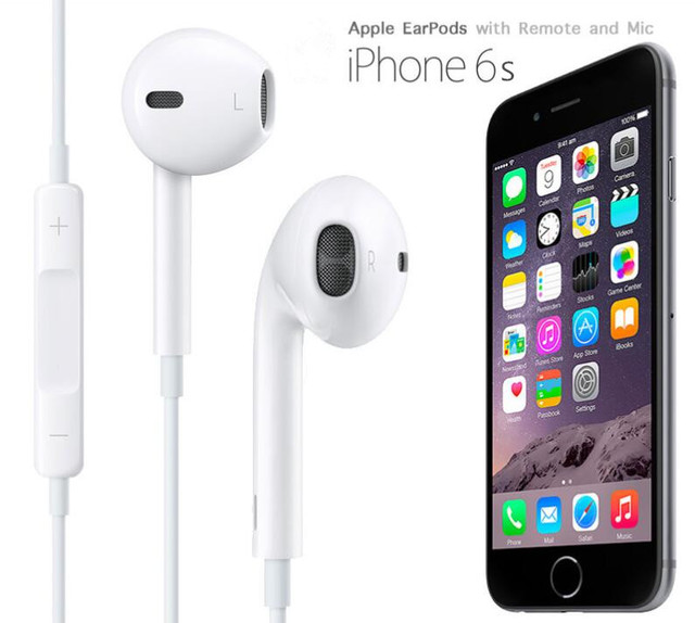 competitive price fd924 3c42a US $15.55  100% Original Foxconn Earpods for iPhone 6s 5S headphones  headset earphone with Remote and Mic for iPhone6 ipad ipod mp3 ios9-in  Earphones ...