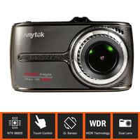 Original Anytek G66 1080P Touch Screen Full HD ADAS DWR HDR Double Lens Car Dvr Night Vision 160 Degree Wide Angle Car Camera