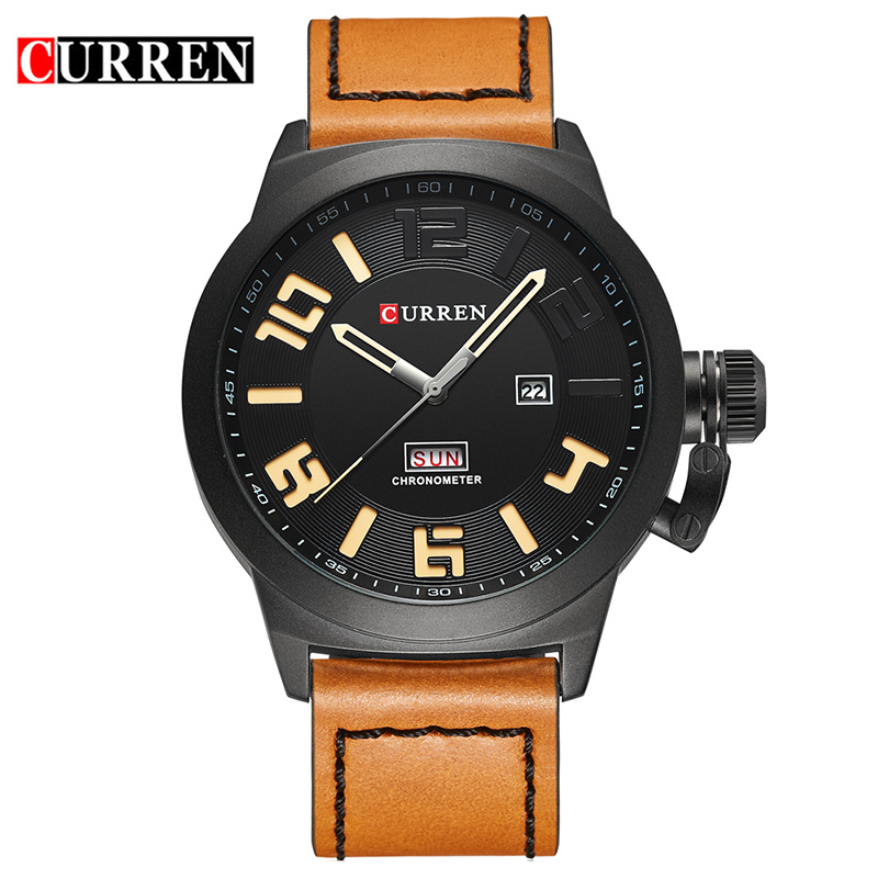 2017 Curren Male Watch Fashion Casual Watches Men Top Brand Luxury Relogio Masculino Quartz Wristwatch Leather Band Clock 8270 v6 luxury brand beinuo quartz watches men leather watch outdoor casual wristwatch male clock relojes hombre relogio masculino