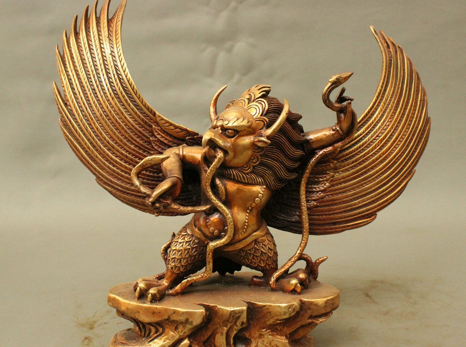 Free Shipping 12 Quot Folk Chinese Bronze Redpoll Winged