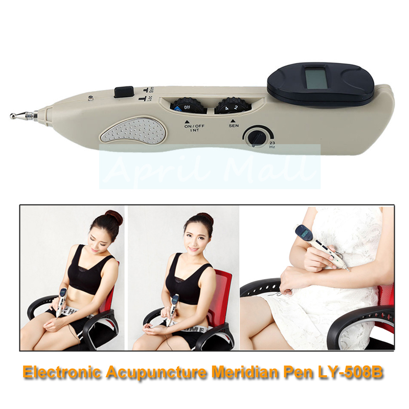Electronic Acupuncture Meridian Pen Pulse Point Detector Acupressure Massage Pain Relief Therapy Facial Body Health Care Tool new electronic pulse analgesia pen pain relief acupuncture point muscle shoulder massage pen relaxation health care