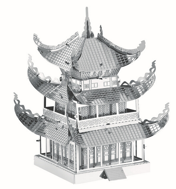 3d-puzzle-precision-laser-cutting-metal-Maiden-Tower-Maya-Pyramid-Yueyang-TowerBig-Wild-Goose-Pagoda-model-puzzle-toys-2