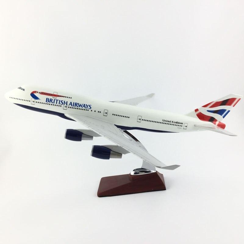 B747 BRITISH AIRWAYS Boeing747 45 47 см модель самолета из 1:150 сплава коллекция моделей Игрушки Подарки бесплатная экспресс EMS/DHL/доставка