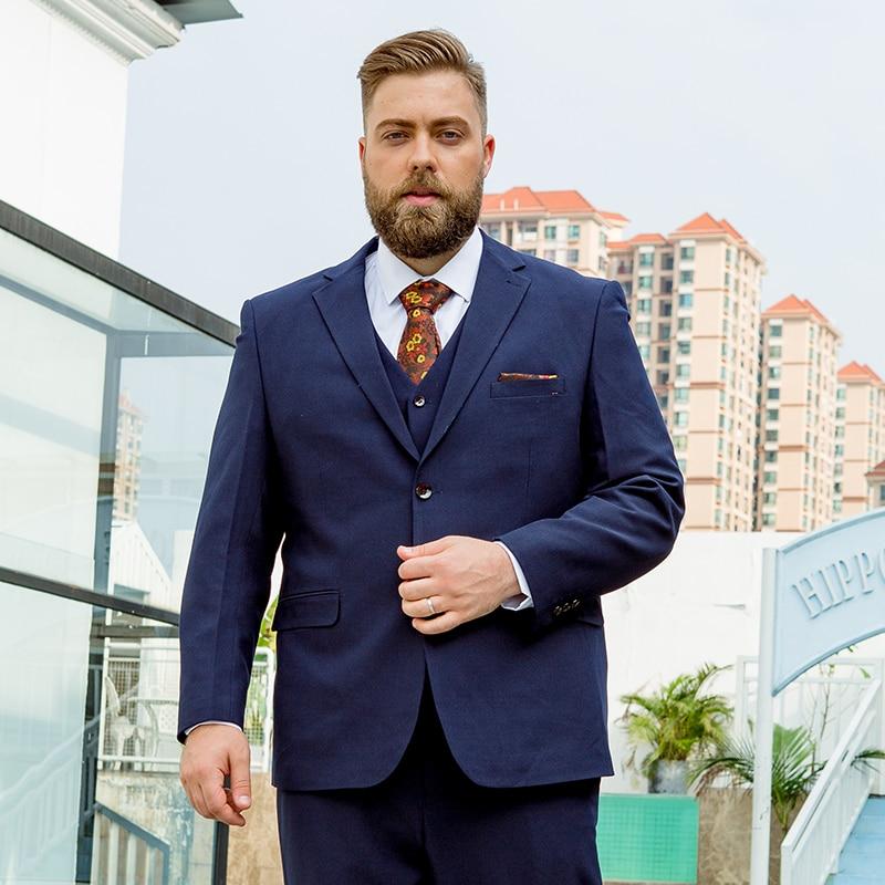 Fat Suit Big Size  Suit Men Plus Fertilizer XL Professional Dress Loose Elastic Suit Fat Jacket Coat Wedding Dress