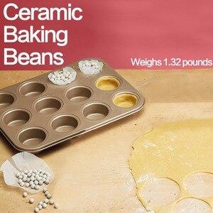 Image 3 - Nieuwe Beste Gebruiksvoorwerpen Keramische Bakken Bonen Pie Bakken Kralen 1.32 £ Pie Gewichten Met Opslag Bad Food Grade Keramische Bakken gereedschap