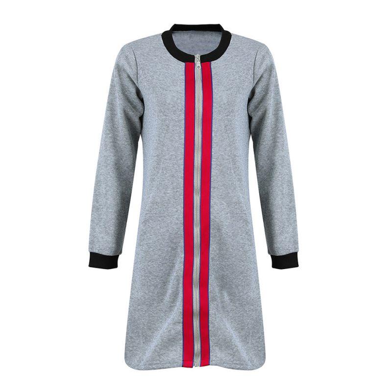 Women Hooded   Jacket   Hoodie Autumn Winter Coat Side Zipper Ladies   Basic     Jackets   2018 New Long Sleeve Coats And   Jackets   Women L3
