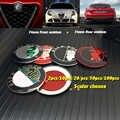 20 adet 10 adet 2 adet 50 adet 100 adet Alfa Romeo araç amblemi logo 7.4cm 74mm ön çizme rozeti Hood arka bagaj etiket kapakları araba styling