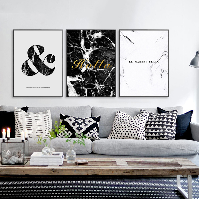 Elegant Buzart marble pattern painting wall pictures for living room decorative art canvas Modern Style poster No Trending - Contemporary Wall Posters for Bedroom Pictures
