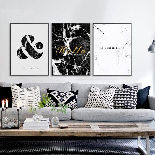 US $4.96 45% OFF|Buzart marmor muster malerei wandbilder für wohnzimmer  dekorative kunst leinwand Moderne poster Kein Rahmen in Buzart marmor  muster ...