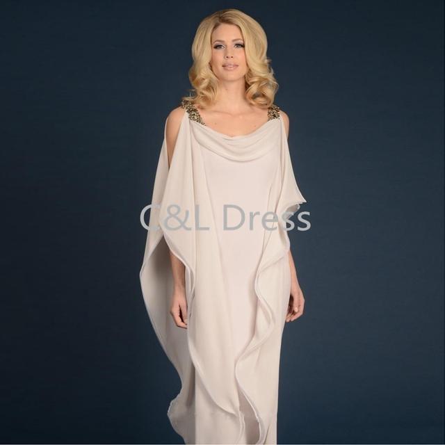 Grecian Deusa Chiffon Vestido Mães Com Alças Até O Chão Mulheres Vestido Elegante Longo Mãe do noivo Vestido da noiva