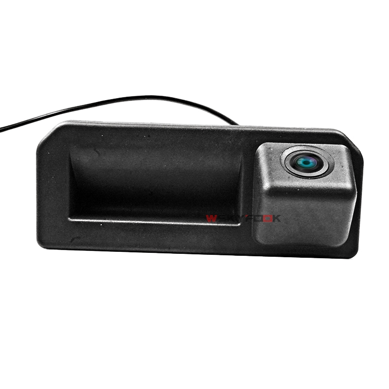CCD caméra arrière De Voiture pour 2018 Audi Q2 Q5L A5 Skoda karoq KODIAQ Cayenne Bora coffre poignée caméra de stationnement inverse HD vision nocturne