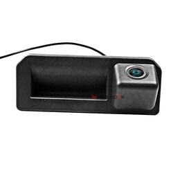 CCD kamera cofania samochodu dla 2018 Audi Q2 Q2L Q5L A5 Skoda karoq KODIAQ Cayenne Polo sedan uchwyt bagażnika z kamerą kamera cofania HD w Kamery pojazdowe od Samochody i motocykle na