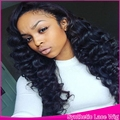 Free part more baby hair celebrity Synthetic Lace Front wavy Wigs Heat Resistant Full deep wave Hair Cosplay Wig For Black Women