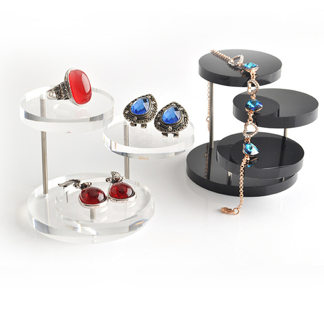New Fashion Jewelry Organizer Jewelry Display Stand Clear 3 Tray
