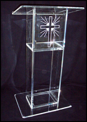 Clear Acrylic LecternAcrylic Pulpit Perspex Podium Church Pulpit Church Pulpit