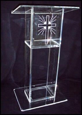 Clear Acrylic LecternAcrylic Pulpit Perspex Podium Church Pulpit Church Pulpit