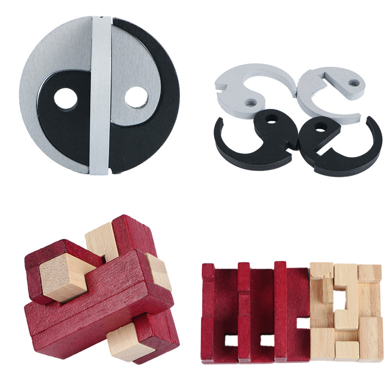 how to solve wooden interlocking puzzle