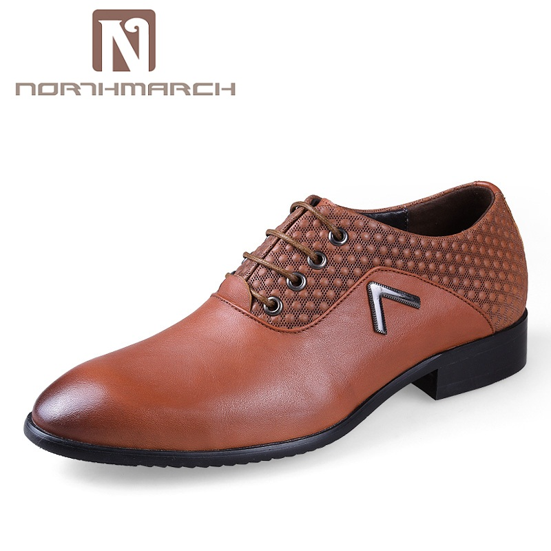 NORTHMARCH Fashion Men Shoes Genuine Leather Oxford Shoes Lace Up Casual Business Dress Shoes Brand Wedding Shoes Men Sapatos цена 2017