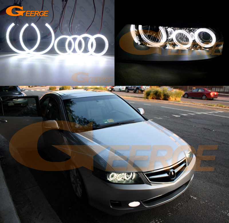 For ACURA TSX CL9 2004 2005 2006 2007 2008 Excellent 6 pcs led Angel Eyes rings