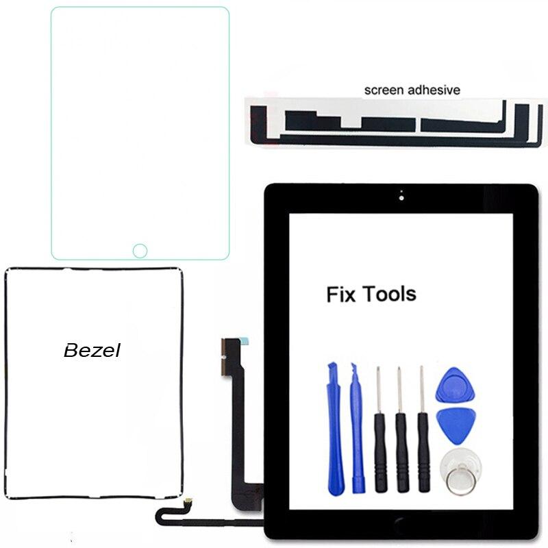 Сенсорный экран с цифровым преобразователем, 1 шт., сенсор, внешняя Передняя стеклянная панель для iPad 4 4-го поколения 2012 A1458 A1459 A1460 + Замена Обо...