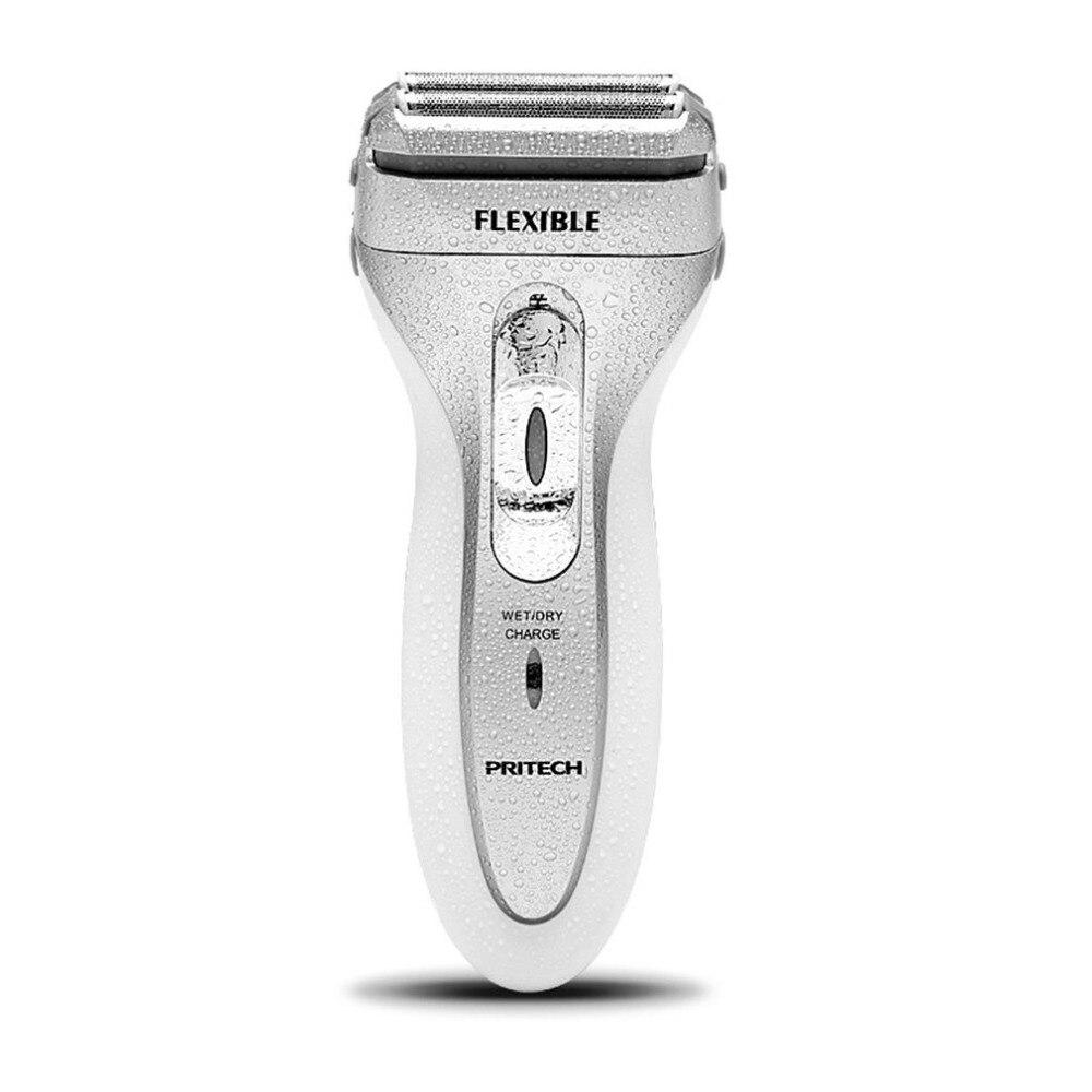RSM-1308 Electric Shaver Dual Mesh Blades Shaving Machine Rechargeable Floating Razor Washable Men Beard Trimmer
