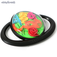 Abbyfrank 3D Magic Track Puzzle Ball Rolling Maze Toy Classic Intellect Balance Logic Ability Educational Game
