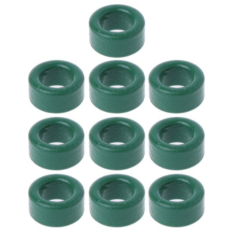 10Pc Power Transformer Ferrite Ring Inductor Coil Green Iron Toroid Ferrite Core